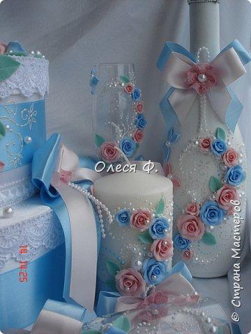 Свадебный комплект для подруги моей дочери. Вот такие нежные  оттенки  выбраны для свадьбы.  фото 6