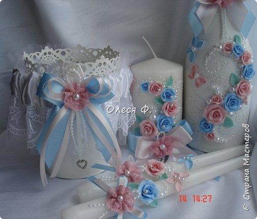 Свадебный комплект для подруги моей дочери. Вот такие нежные  оттенки  выбраны для свадьбы.  фото 7