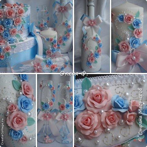 Свадебный комплект для подруги моей дочери. Вот такие нежные  оттенки  выбраны для свадьбы.  фото 14