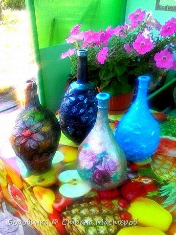 """Всем привет! Девочки , вазы разной формы из стеклянных бутылок """"Быстрее не бывает"""" или как я их делаю. Специально для Валентины Острицовой и Натали ( Рудбекия). фото 18"""