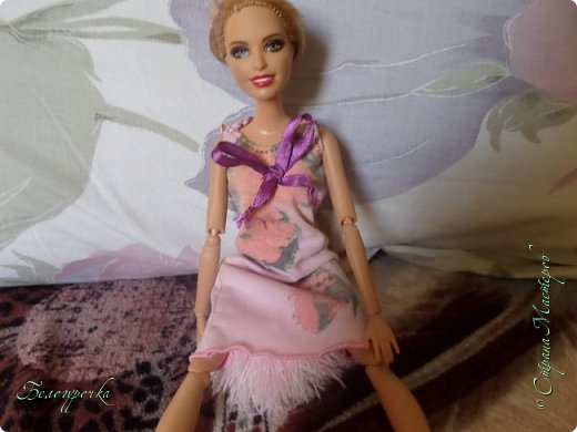 привет!сегодняшний блог начался с того, что Эвелина пришла ко мне в своей новой ночнушке и с какой-то пушистой штукой и заявила: -Я хочу на улицу! фото 2
