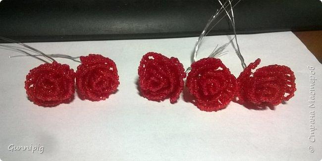 Вот такая красная плетистая розочка у меня получилась. Решила также выложить пошаговый процесс ее создания, мало ли, кому пригодится) фото 15