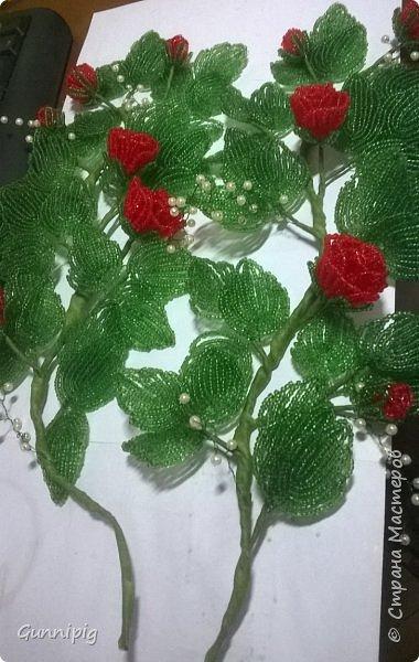 Вот такая красная плетистая розочка у меня получилась. Решила также выложить пошаговый процесс ее создания, мало ли, кому пригодится) фото 35