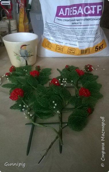 Вот такая красная плетистая розочка у меня получилась. Решила также выложить пошаговый процесс ее создания, мало ли, кому пригодится) фото 37