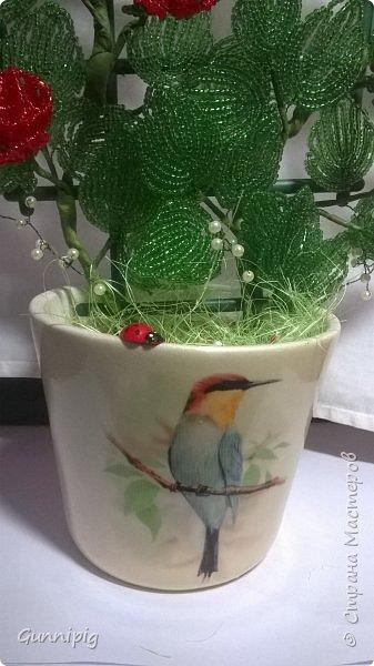 Вот такая красная плетистая розочка у меня получилась. Решила также выложить пошаговый процесс ее создания, мало ли, кому пригодится) фото 40