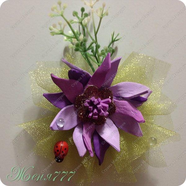 Первый раз я делала цветок из фоармина! Спасибо Оленька прислала новый и интересный для меня материал!!!! Сделала на одном дыхании ! Мне понравилось оооочень делать! Надеюсь все получилось???!!!
