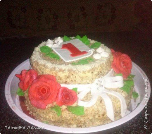 """Мой третий в жизни тортик. Двухъярусный """"Наполеон"""", 4 кг фото 2"""
