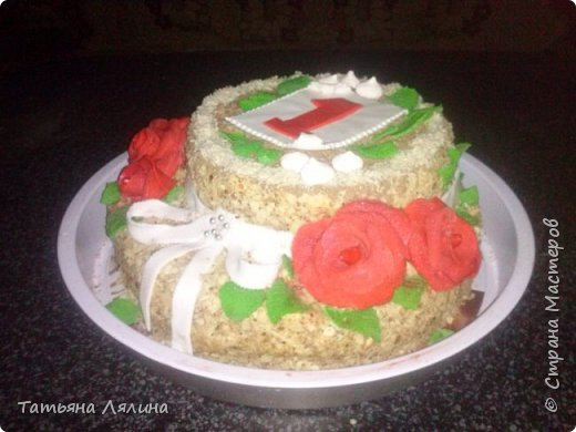 """Мой третий в жизни тортик. Двухъярусный """"Наполеон"""", 4 кг фото 1"""