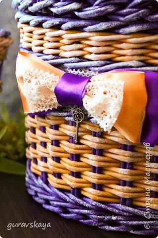Всем доброго времени суток!Как и обещала, показываю вам свою новую плетеную шкатулку, сделанную на заказ, а также карандашницу, прилагающуюся как бонус. фото 2