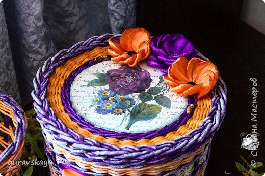 Всем доброго времени суток!Как и обещала, показываю вам свою новую плетеную шкатулку, сделанную на заказ, а также карандашницу, прилагающуюся как бонус. фото 3