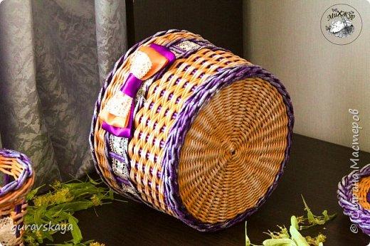 Всем доброго времени суток!Как и обещала, показываю вам свою новую плетеную шкатулку, сделанную на заказ, а также карандашницу, прилагающуюся как бонус. фото 5