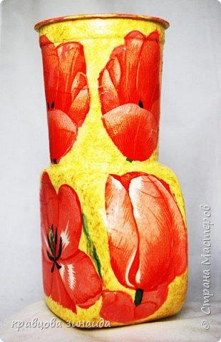 ДОБРЫЙ ВСЕМ ВЕЧЕР! Сегодня  я  к вам  со своими любимыми вазочками , первая с маками фото 2