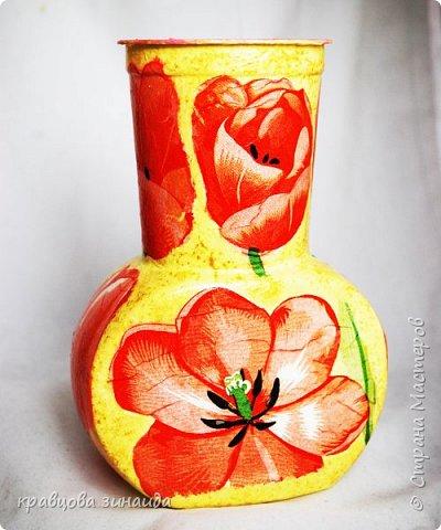 ДОБРЫЙ ВСЕМ ВЕЧЕР! Сегодня  я  к вам  со своими любимыми вазочками , первая с маками фото 1