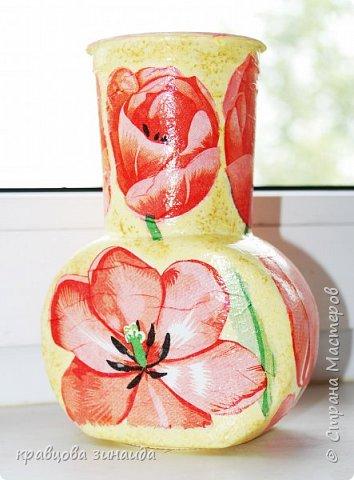 ДОБРЫЙ ВСЕМ ВЕЧЕР! Сегодня  я  к вам  со своими любимыми вазочками , первая с маками фото 3