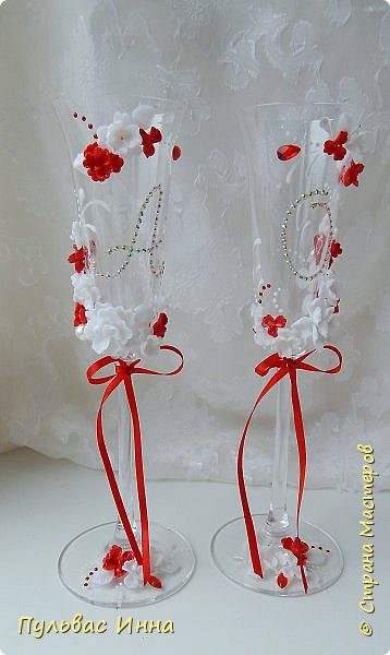 Очередной наборчик))))очень скромненький, выполнен в красно-белом цвете... фото 4