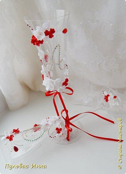 Очередной наборчик))))очень скромненький, выполнен в красно-белом цвете... фото 5