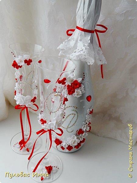 Очередной наборчик))))очень скромненький, выполнен в красно-белом цвете... фото 3