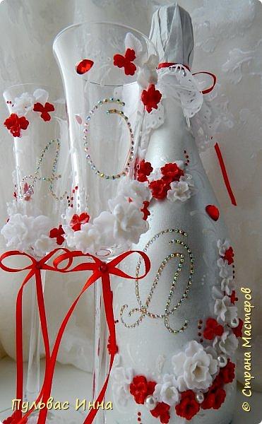 Очередной наборчик))))очень скромненький, выполнен в красно-белом цвете... фото 1