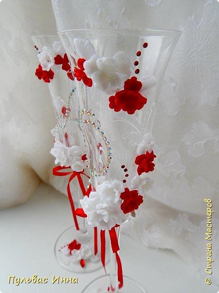 Очередной наборчик))))очень скромненький, выполнен в красно-белом цвете... фото 6