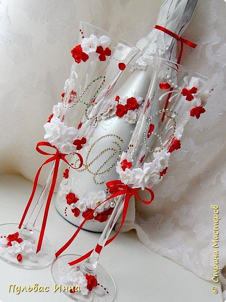 Очередной наборчик))))очень скромненький, выполнен в красно-белом цвете... фото 2