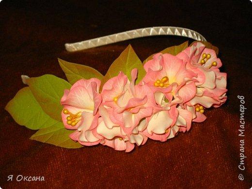 Всем доброй ночи! Наконец-то я дождалась МК этого цветка. Автор и Мастер Юлия Варламова. Целый день удовольствия и в итоге.... Ободок и две резиночки. А Теперь, прошу к просмотру и к обсуждению фото 1
