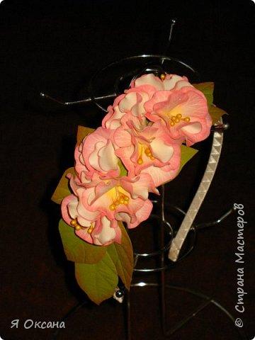 Всем доброй ночи! Наконец-то я дождалась МК этого цветка. Автор и Мастер Юлия Варламова. Целый день удовольствия и в итоге.... Ободок и две резиночки. А Теперь, прошу к просмотру и к обсуждению фото 5