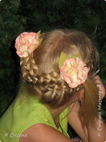 Всем доброй ночи! Наконец-то я дождалась МК этого цветка. Автор и Мастер Юлия Варламова. Целый день удовольствия и в итоге.... Ободок и две резиночки. А Теперь, прошу к просмотру и к обсуждению фото 3