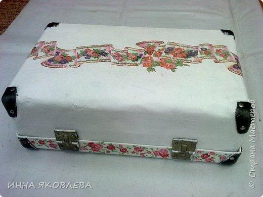 Ну вот и еще один чемодан стал жертвой моего творчества! фото 6