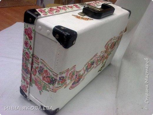 Ну вот и еще один чемодан стал жертвой моего творчества! фото 3