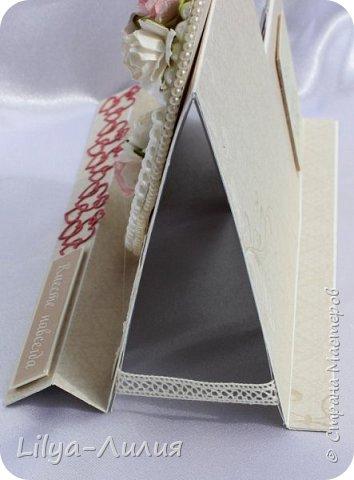 Попросили сделать открыточку на жемчужную свадьбу. Вот что у меня сотворилось))) и вот замахнулось я на открытку -шейкер, на которые давно засматриваюсь, но долго не решалась. фото 3