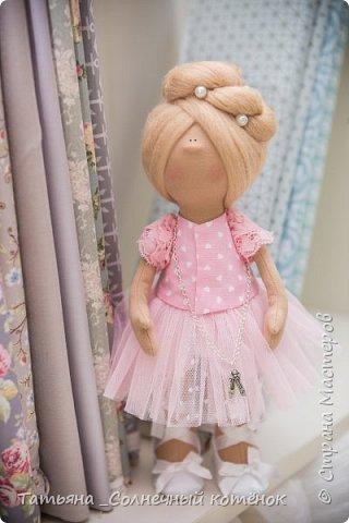 Текстильная куколка балерина Милана фото 3