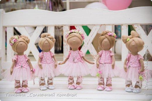 Текстильная куколка балерина Милана фото 2