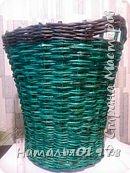 Для плетения брала газетную кромку 7,5 см. Спица 1,5 мм. Окрашена- вм лиственница+грунтовка, лак для бань и саун. фото 2