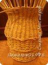 Стол сплетен из газетной кромки шириной 7,5 см. Окрашен вм лиственница+грунтовка, лак для бань и саун. фото 2