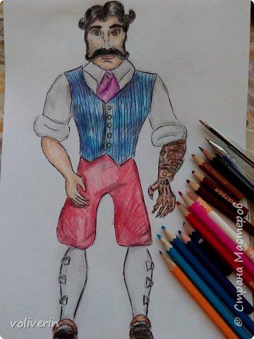 """""""Куколы Монстер Хай (Monster High) нарисованных ручками и цветными карандашами часть два"""" Продолжаю рисовать монстряшек, получаться стало лучше, чем в начале, но ещё есть к чему стремиться. фото 22"""