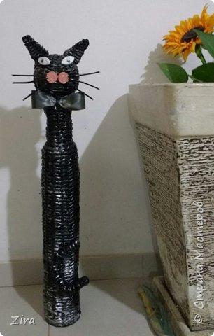ARTE Cestaria: O Gato da Nega  Peça Artesanal Decorativa para Piso com 75 cm de Altura   фото 1