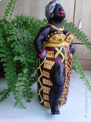 В пару моей первой скульптурке родилась вот такая колоритная дама)) фото 1