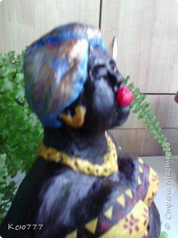 В пару моей первой скульптурке родилась вот такая колоритная дама)) фото 4