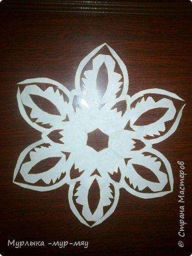 Эти снежинки из бумаги. фото 3