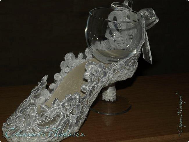Добрый день, вчера выставляла на ваш суд мою первую туфлю-бокал, с процессом изготовления http://stranamasterov.ru/node/1036201. Моя неугомонная душа захотела сделать вторую да побыстрее, с учетом всех косяков! Итак, встречайте, подарок для моей сестры. фото 5