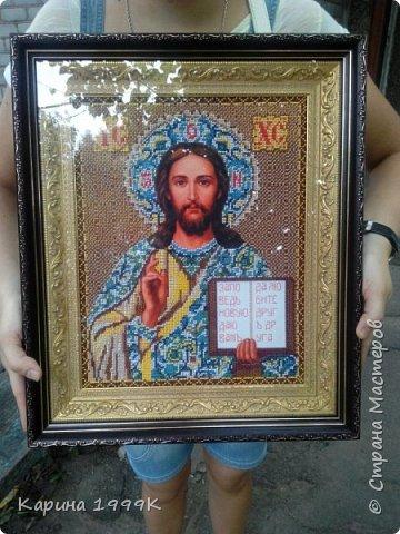 """""""Иисус Христос"""" Размер:38,5*45,5(без рамки). фото 1"""