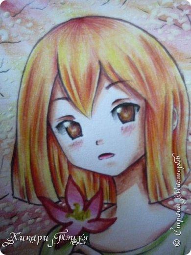 Снова здрасте))) Нарисовала мини-рисунок. Что-то в последнее время меня все чаще и чаще тянет рисовать более мелкие рисунки, наверно, альбомный формат уже приелся))) фото 3
