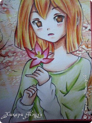 Снова здрасте))) Нарисовала мини-рисунок. Что-то в последнее время меня все чаще и чаще тянет рисовать более мелкие рисунки, наверно, альбомный формат уже приелся))) фото 4