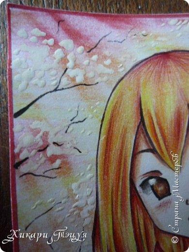 Снова здрасте))) Нарисовала мини-рисунок. Что-то в последнее время меня все чаще и чаще тянет рисовать более мелкие рисунки, наверно, альбомный формат уже приелся))) фото 5