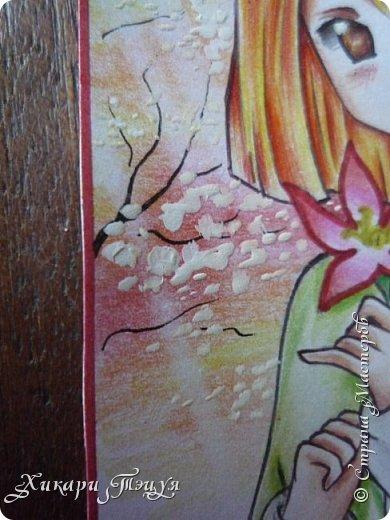 Снова здрасте))) Нарисовала мини-рисунок. Что-то в последнее время меня все чаще и чаще тянет рисовать более мелкие рисунки, наверно, альбомный формат уже приелся))) фото 6