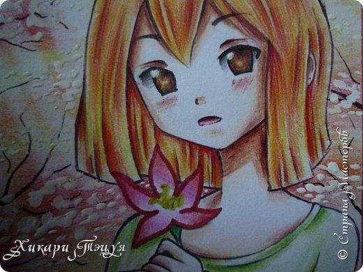 Снова здрасте))) Нарисовала мини-рисунок. Что-то в последнее время меня все чаще и чаще тянет рисовать более мелкие рисунки, наверно, альбомный формат уже приелся))) фото 8