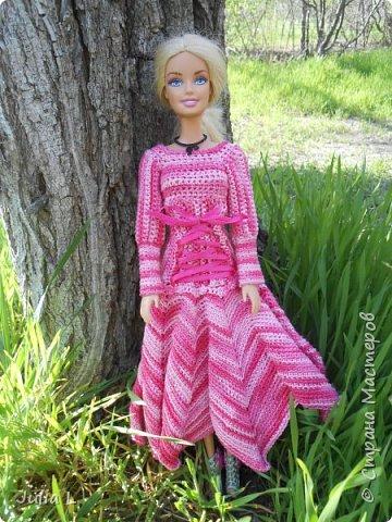 Вот такое платье связалось для Дракулауры фото 8