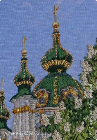 Андреевский собор в каштанах. В рамочке (дуб) со стеклом. Размер 170*240 мм фото 3