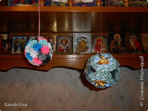 Кусудама классическая с бабочками фото 2