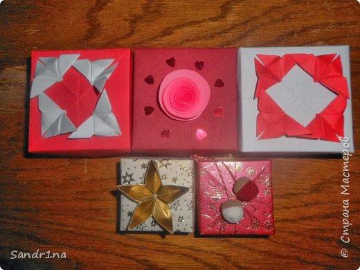Коробочки оригами фото 21